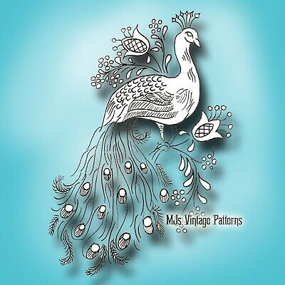 Vintage Pattern ~ Peacock Embroidery