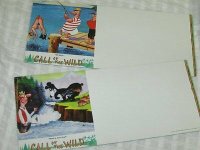 Vintage Funny Fishing Comical Ink Blotters Lot of 2 Unused Call of the Wild