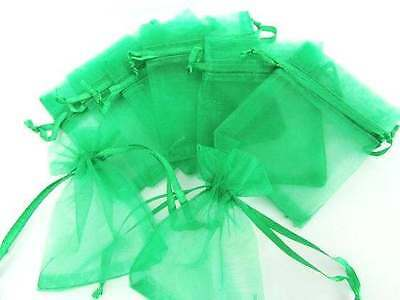 """100 Drawstring Small Organza Gift Bag/Party/Pouch 2x3"""" Craft Favors NO1-Green"""