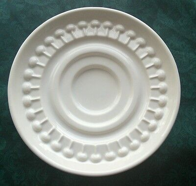 VINTAGE HAEGER U.S.A. WHITE CANDLE HOLDER PLATE STAND # 3111