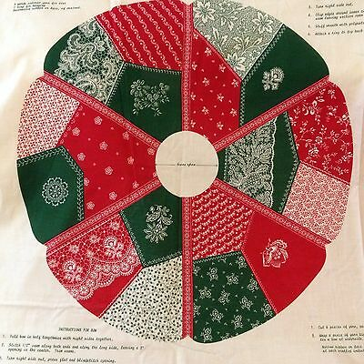 Victorian Christmas Wreath Sewing Panel Crazy Quilt Patchwork Cranston Red Green