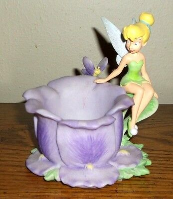 Adorable Tinker Bell Fairy Purple Flower Candle Cup Holder Peter Pan  L@@K
