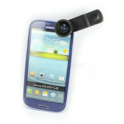 3 In One Universal Clip Photo Lens Fish-eye/Wide-Angle/Macro lens for Cell Phone
