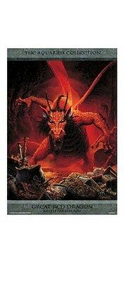 GREAT RED DRAGON 24x36 FANTASY ART POSTER Keith Parkinson Dragons NEW/ROLLED!