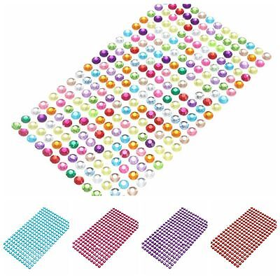 Self Adhesive CellPhone Car Computer Rhinestone Bling Stickers Craft DTY 3mm