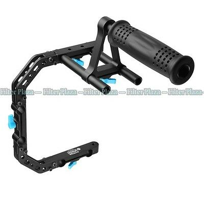 FOTGA DP3000 C-Shape Bracket Cage +Top Handle Grip Support for 15mm Rod DSLR Rig