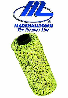 Marshalltown YELLOW FLECKED 500ft/152m Braided Brick/Bricklayer Mason Line ML613