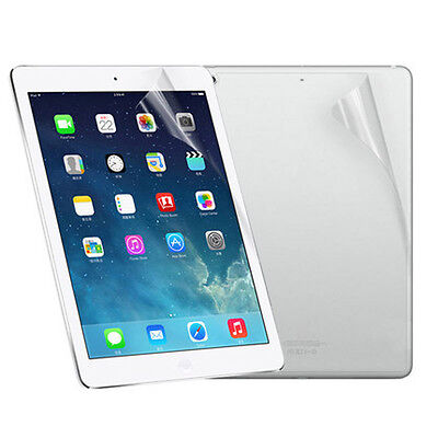 New Front And Back Clear Film LCD Screen Protection For Ipad 5 6 Air 1 2 Tideway