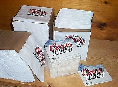 COORS LIGHT 50 MOUNTAINS BEER COASTERS & 750 BAR NAPKINS NEW