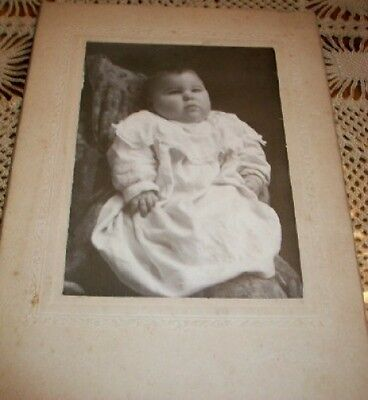 Old Vintage Antique CDV Photograph Adorable Little Chubby Baby Honesdale PA