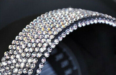 New Car Interior Cell Phone Bling Silver Crystal Rhinestone Decorate Sticker 3MM