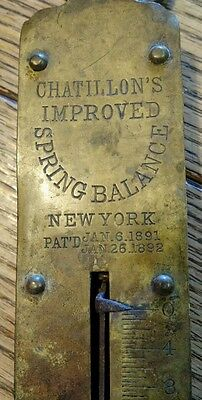 Antique Brass Hanging Scale