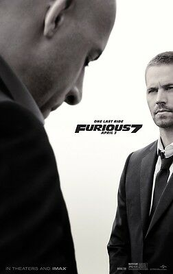 FAST and the FURIOUS movie poster (a) FURIOUS 7  movie poster PAUL WALKER