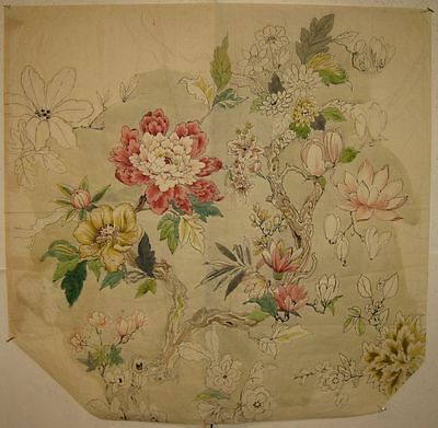 Beautiful Antique 19th C. French Watercolor & Ink Painting on Paper (9219)