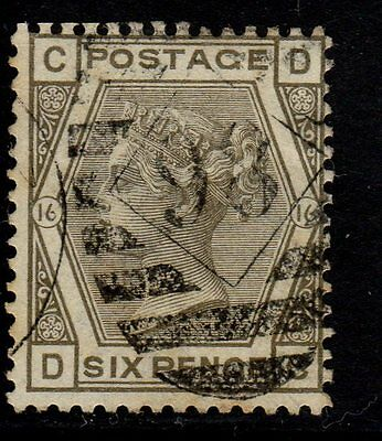 Great Britain Scott #62 6p Plate 16 Pos D-C