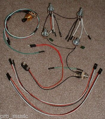 EMG Solderless EZ-INSTALL Wiring KIT for Les Paul 2 ACTIVE PU 2V 2T 3-Way GOLD**
