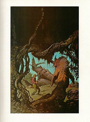 "1977 Full Color Plate /""Jungle Tales of Tarzan/"" by Frank Frazetta Fantastic GGA"