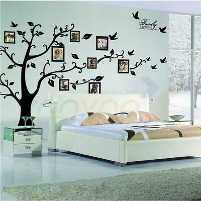 Photo Frame Tree Family Memory Wall Decals Stickers Large Vinyl Mural Home Decor