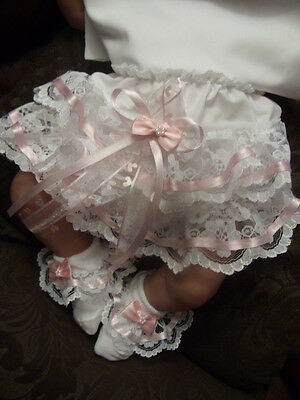 """Dream 0-6 Months Baby Frilly Knickers Socks 20-26"""" Reborn Doll"""