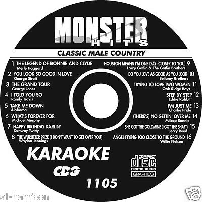 KARAOKE MONSTER HITS CD+G CLASSIC MALE COUNTRY  #1105