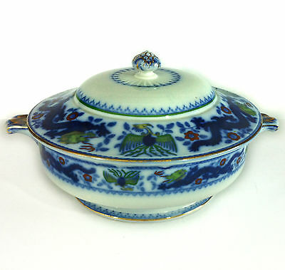 Dated 1853 - Rare Antique Minton Chinese Dragon & Bird Covered Vegetable Tureen