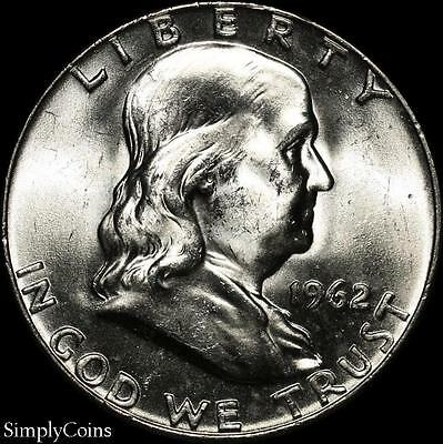 1962-D Franklin Half Dollar ~ BU Uncirculated ~ LUSTER! ~ 90% Silver US Coin