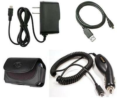 Car+Wall AC Charger+Case+USB Cable for ATT SAMSUNG GALAXY S 2 II i727 Skyrocket