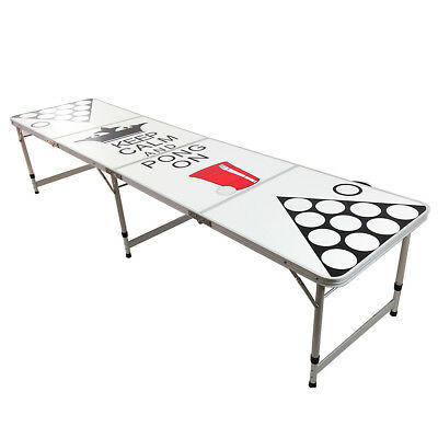 8' New Beer Pong Table Aluminum Folding Indoor Outdoor Drinking Game Tailgate #9