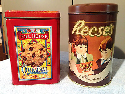 LOT OF 2 - NESTLE TOLL HOUSE ORIGINAL RECIPE COOKIES -  1989 REESE'S MINIATURES