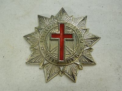 Early Genuine Knights Templar Star Red Cross Sash Badge IN HOC SIGNO VINCES