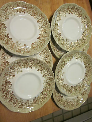 Vintage J & G Meakin Romantic England bowls Set of 7 Saucers Lot Anne Hathaway