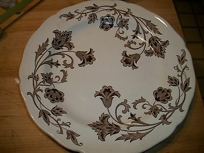 Antique JG Meakin Stattfordshire England Full Size dinner plate Browns Vintage