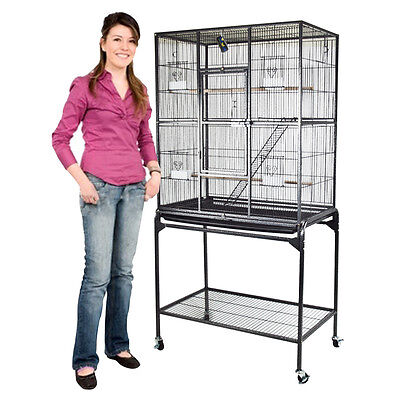 "New Parrot Cage Large Classic Perch Ladder Bird Cockatoo Macaws Aviary 62"" Inch"