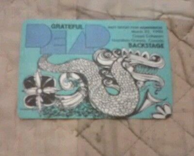 Grateful Dead Backstage Pass March 22nd. 1990 Ontario, Canada