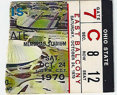 Lot of 2 1970 Ohio State college National Champions football ticket stubs NCAA