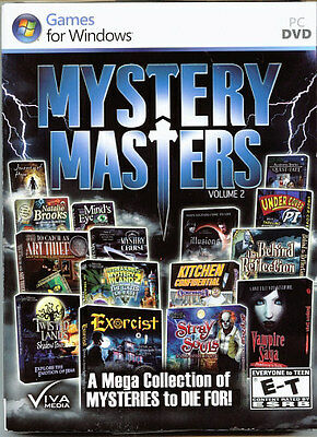EXORCIST Hidden Object MYSTERY MASTERS 15 PACK MEGA COLLECTION PC Game DVD NEW