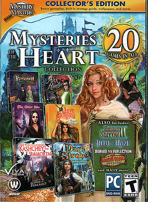 Mystery Masters MYSTERIES OF THE HEART 20 PACK Hidden Object PC Game DVD NEW