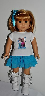 """AMERICAN MADE DOLL CLOTHES FOR 18 INCH GIRL DOLLS DRESS LOT """"FROZEN"""""""