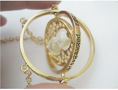 Time Turner Hermione Granger Rotating Spins Hourglass Chain Necklace Valentine's
