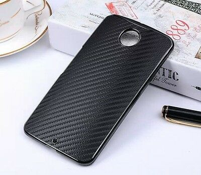 For Motorola Google Nexus 6 Phone Carbon Fiber Skin Back Cover Protect Hard Case