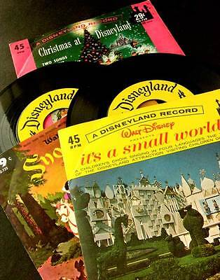 1960's Scarce RECORD It's A Small World CHRISTMAS at DISNEYLAND & SNOW WHITE Gem