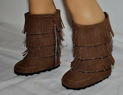 AMERICAN STYLE FRINGE BOOTS- DOLL CLOTHES FOR 18 INCH GIRL DOLLS DRESS LOT 00144
