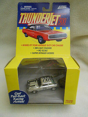 Johnny Lightning Thunder Jet 500 Chrome Smokey Hughes Ford Fairlane #76 RARE