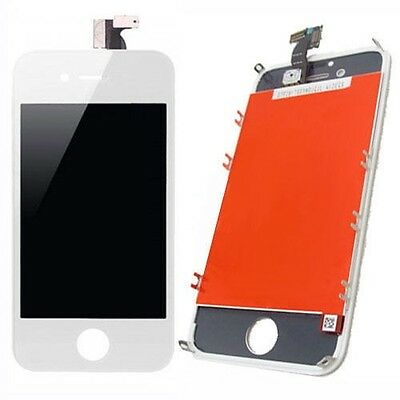 LCD Front Digitizer Glass White Touch Screen Replacement Assembly for iPhone 4S