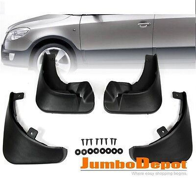 Fit 2007 2008 2009 2010 Skoda FABIA Black Tire Mud Guard Splash Flaps Fender Set