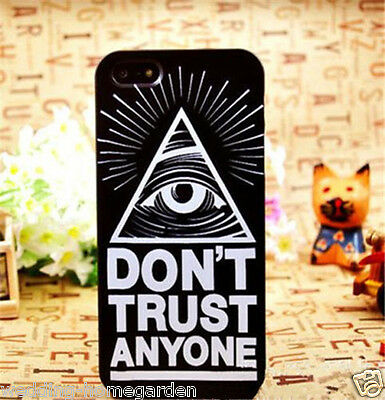 Don't Trust Anyone Eye Black Hard Back Skin Case Cover For Apple Iphone 5S 5G 5