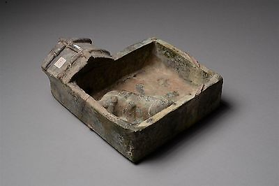 Ancient Chinese Han Dynasty Glazed Pottery Pig Pen Farm Scene - 100 AD