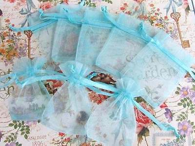 """100 Drawstring Organza Gift Bags/Pouch/Shower Favor/Party 2""""x3"""" NO1-Baby Blue"""