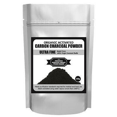 Ultra Fine Activated Carbon Charcoal Powder Pure Organic Coconut Shell Bakery