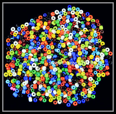 Lots 200Pcs mixed color glass charm spacer beads Jewelry Finding Design 4mm